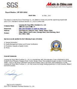SGS Audit Report - Luoyang Hefeng Furniture