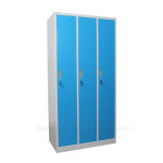 3 door steel storage lockers