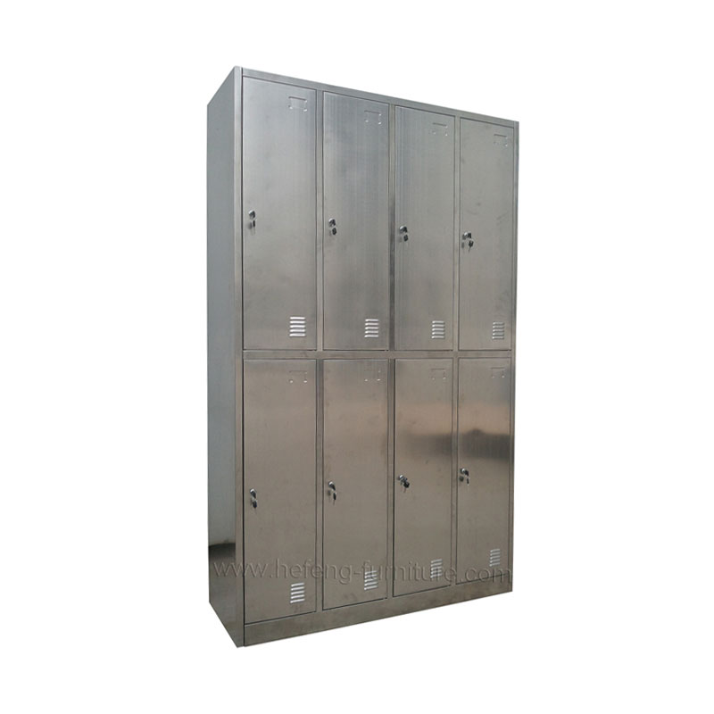 8 door stainless steel lockers
