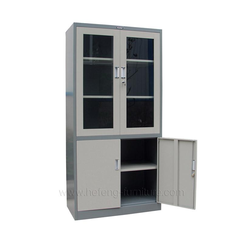 Glass door office cabinet