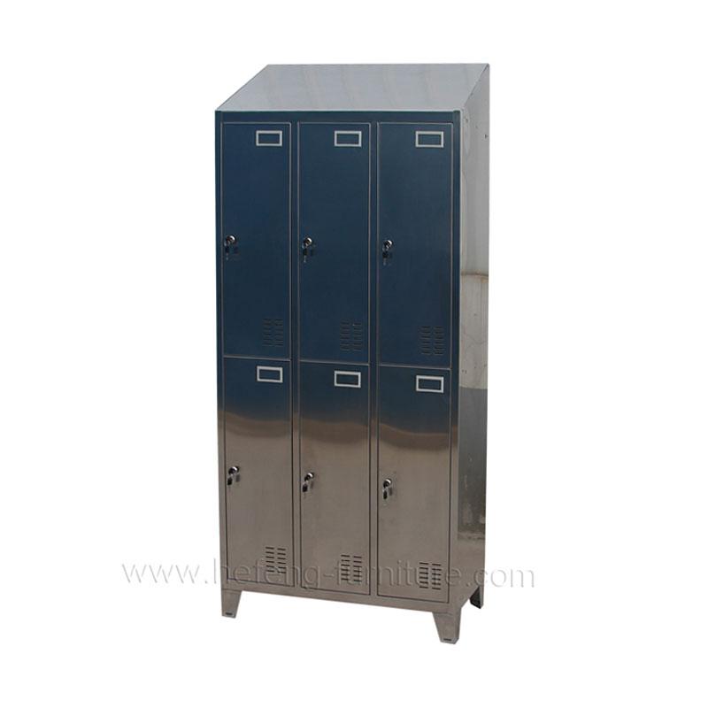 Stainless Steel Locker 6 Door