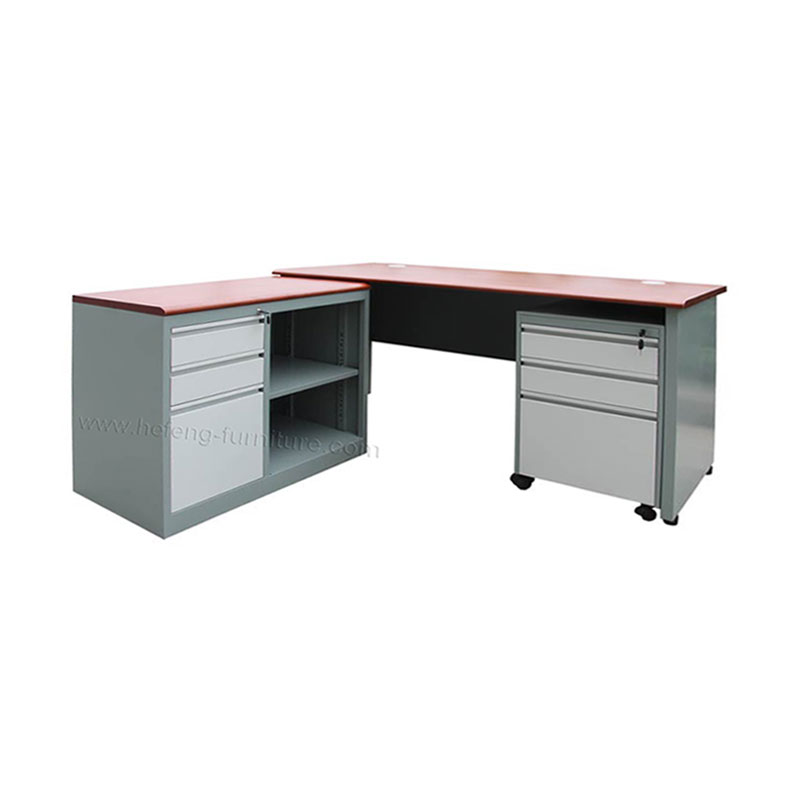 Steel Office Desk with extension