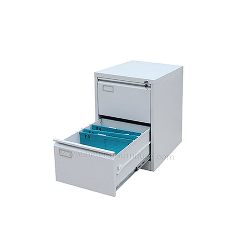 Metal 2 Drawer Vertical Cabinet