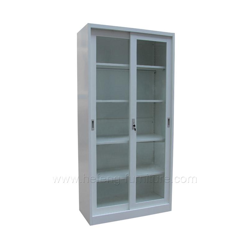 sliding cabinet with glass door